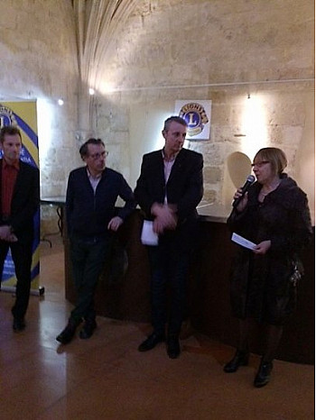 Un don de 500€ offert par le Lions Club Narbonne Via Domitia