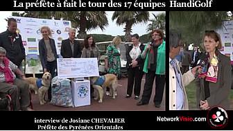 Josiane CHEVALIER Préfète des Pyrénées Orientales ouvre le 1er trophée HandiGolf des Lions Saint Cyprien Catalane le 25 avril 2015