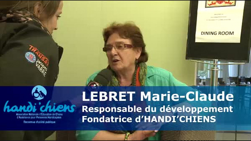 @HANDICHIENScom - LEBRET Marie-Claude, fondatrice d'HANDI'CHIENS, au micro de NetwrokVisio